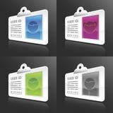 Tarjetas de la identificación del vector Fotografía de archivo