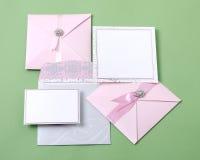 Tarjetas de la invitación Imagen de archivo libre de regalías