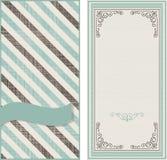 Tarjetas de la invitación en fondo del vintage con la línea diagonal Fotografía de archivo