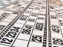 Tarjetas de la loteria Fotografía de archivo