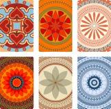 Tarjetas de la mandala Imagen de archivo