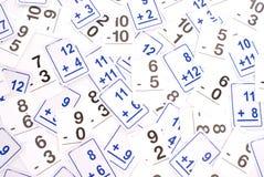 Tarjetas de la matemáticas Fotos de archivo libres de regalías