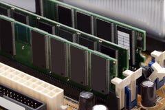 Tarjetas de la memoria RAM Imágenes de archivo libres de regalías