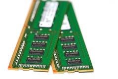 Tarjetas de la memoria RAM Foto de archivo libre de regalías