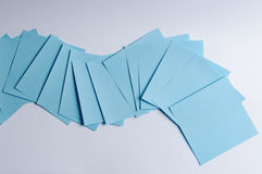 Tarjetas de la nota Foto de archivo