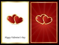 Tarjetas de la tarjeta del día de San Valentín Foto de archivo libre de regalías