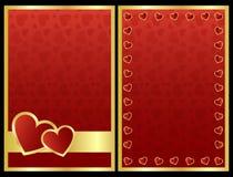 Tarjetas de la tarjeta del día de San Valentín Fotos de archivo