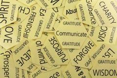Tarjetas de la terapia de la gratitud Imagenes de archivo