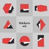 Tarjetas de las etiquetas engomadas de la colección libre illustration