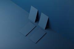 Tarjetas de las maquetas para calificar foto de archivo