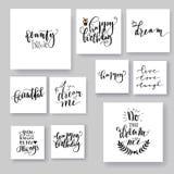 Tarjetas de letras Fotografía de archivo libre de regalías