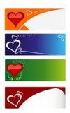 Tarjetas de los corazones Fotos de archivo libres de regalías