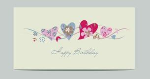 Tarjetas de los corazones de la flor Imagen de archivo