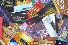 Tarjetas de los jugadores Imágenes de archivo libres de regalías