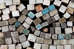 Tarjetas de madera Fotos de archivo