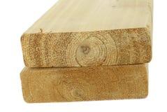 Tarjetas de madera de la madera de construcción Fotografía de archivo