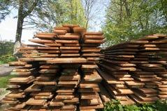 Tarjetas de madera frescas Fotografía de archivo libre de regalías