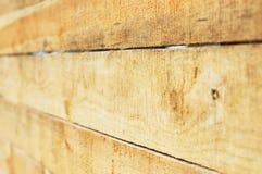 Tarjetas de madera. Opinión de perspectiva. Imagen de archivo