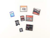 Tarjetas de memoria imágenes de archivo libres de regalías