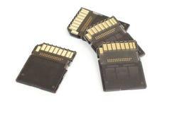Tarjetas de memoria de Digitaces Imagen de archivo libre de regalías
