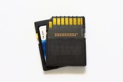 Tarjetas de memoria del SD Imagen de archivo libre de regalías