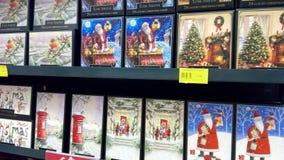 Tarjetas de Navidad Fotografía de archivo libre de regalías