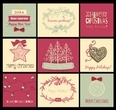 Tarjetas de Navidad ilustración del vector