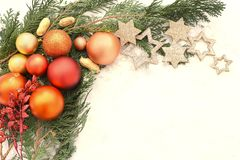 Tarjetas de Navidad Foto de archivo libre de regalías