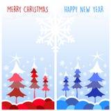 Tarjetas de Navidad Foto de archivo