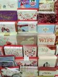 Tarjetas de Navidad para la esposa Fotografía de archivo