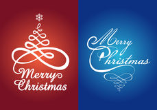 Tarjetas de Navidad, sistema del vector Imagen de archivo