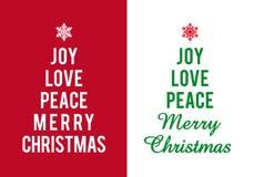 Tarjetas de Navidad, vector Fotografía de archivo libre de regalías
