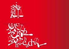 tarjetas de nota y de la licenciatura de derecho con símbolos Foto de archivo