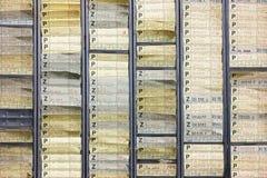 Tarjetas de orden de trabajo Fotos de archivo