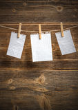 Tarjetas de papel Imagen de archivo libre de regalías