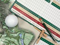 Tarjetas de puntuación del golf Imagenes de archivo