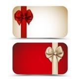 Tarjetas de regalo Fotos de archivo libres de regalías