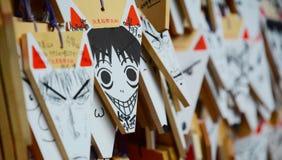 Tarjetas de rogación formadas Fox en Kyoto Fotografía de archivo libre de regalías