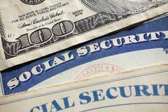 Tarjetas de Seguridad Social Foto de archivo libre de regalías