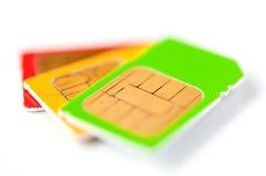 Tarjetas de SIM Fotografía de archivo