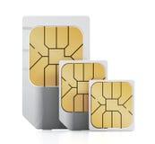 Tarjetas de SIM Fotos de archivo libres de regalías