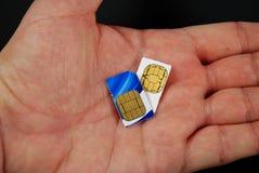 Tarjetas de SIM Imagen de archivo libre de regalías