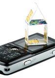 Tarjetas de SIM en el teléfono Imágenes de archivo libres de regalías