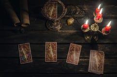 Tarjetas de Tarot Foto de archivo libre de regalías