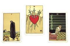 Tarjetas de Tarot Fotografía de archivo libre de regalías