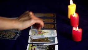 Tarjetas de Tarot almacen de video