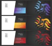 Tarjetas de Vising - bilaterales - 7 ilustración del vector