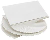 Tarjetas de visita Imagen de archivo libre de regalías