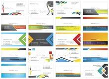 tarjetas de visita 4 ilustración del vector