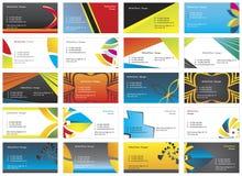 tarjetas de visita 9 Fotos de archivo libres de regalías